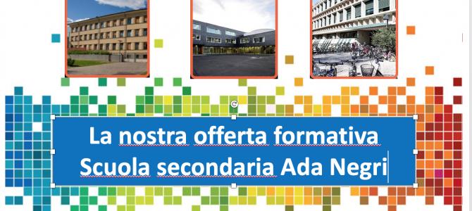 """I 5 indirizzi della scuola """"Ada Negri"""""""